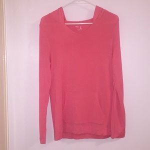 Gap Body Super Soft Tunic W/ Hood Hot Pink Size S